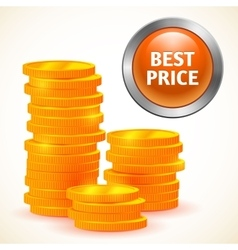 Sign best price with money isolated vector image