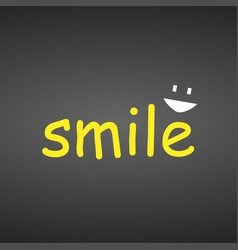 Smile life quote with modern background vector