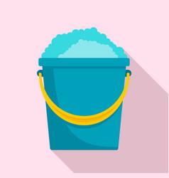 soap foam bucket icon flat style vector image