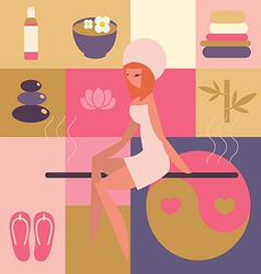Spa and beauty salon -sauna vector
