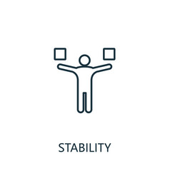 Stability outline icon thin line concept element vector