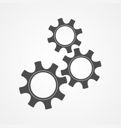 teamwork concept gray silhouette cog and gear vector image