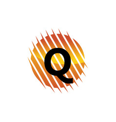 technology letter q vector image
