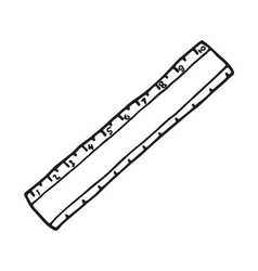 The ruler icon Outlined vector