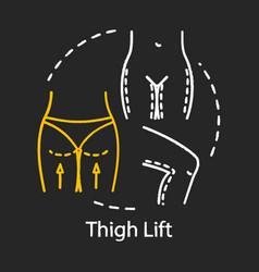 Thigh lift chalk icon vector