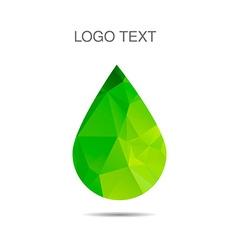 Triangle logo of drop ecology logo vector image