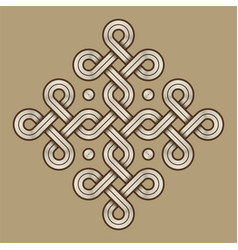 viking decorative knot - engraved - ring cross vector image