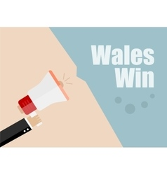 Wales win Flat design business vector