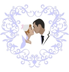 Wedding couple 07 vector image