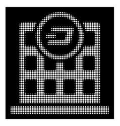 white halftone dash corporation building icon vector image