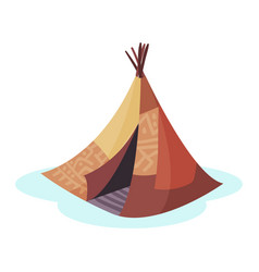 Wigwam traditional house of north nations of vector