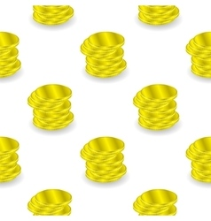 Yellow Coins Seamless Background vector