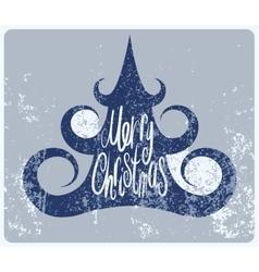 Calligraphic vintage grunge Christmas card design vector image