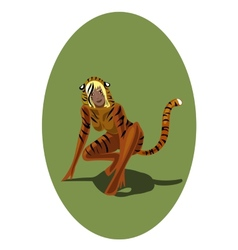 Chinese horoscope tiger-women vector image