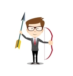 man with a bow and arrow vector image