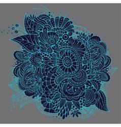 Ornate neon floral card design vector image