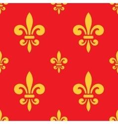 royal lily pattern vector image vector image
