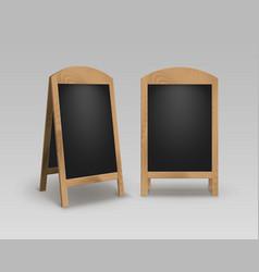 set of street sandwich stands black menu boards vector image vector image
