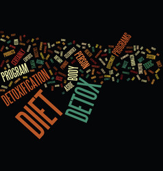 the detox diet text background word cloud concept vector image vector image