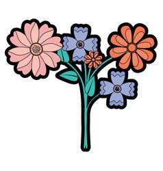 beauty floral arrangement natural decoration vector image