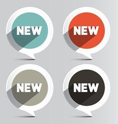 Circle New Labels Set vector image vector image