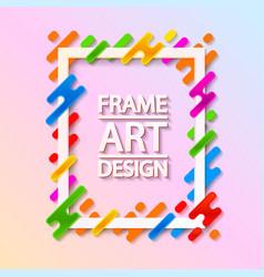 color frame art design beautiful frame vector image vector image