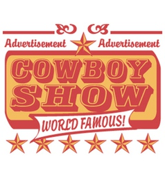 Cowboy show logo vector image vector image