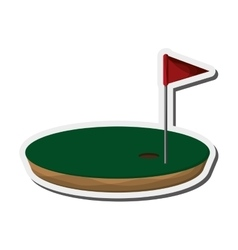 golf hole icon vector image
