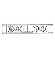 rich enrichment bead moulding lead vintage vector image vector image