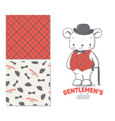 gentlemen club fashion for kids vector image