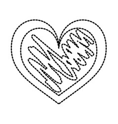 hand drawn heart love romance passion vector image vector image