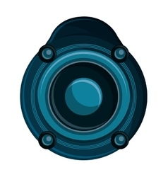 Isolated speaker of music concept design vector