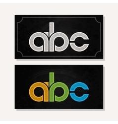 letter A B C logo alphabet chalk icon set vector image vector image