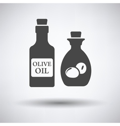 Bottle of olive oil icon vector image