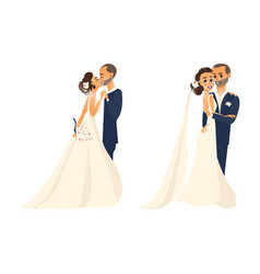 groom and pride character set isolated vector image