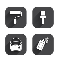 Painting roller brush icon Spray and Paint can vector image