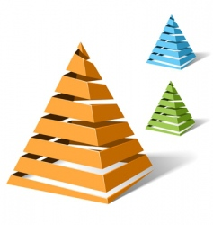 spiral pyramids vector image vector image