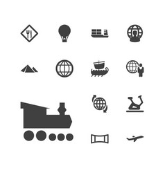 13 travel icons vector