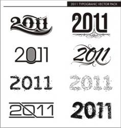 2011 typographic vector image