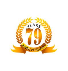 79 years ribbon anniversary vector