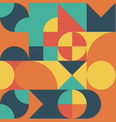 abstract geometric retro design seamless vector image