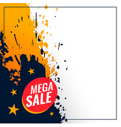 Abstract mega sale grunge banner with text space vector