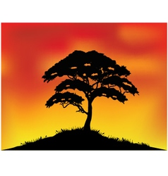 Africa landscape background vector