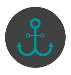 Anchor glyph color icon vector
