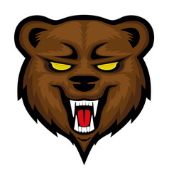 Angry bear sign vector