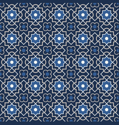 arabic geometry tangled moroccan pattern vector image