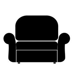Armchair the black color icon vector