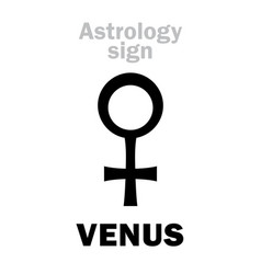 Astrology planet venus vector