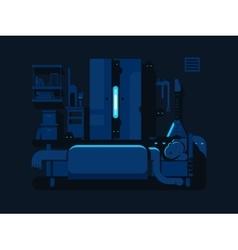 Bedroom mystic flat design vector image