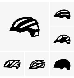 Bike helmets vector